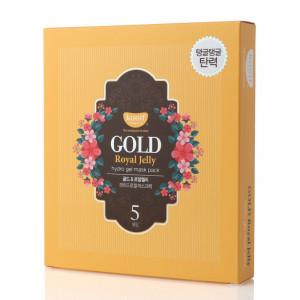 Гидрогелевая маска для лица с золотом  KOELF Gold & Royal Jelly Mask 30g - 5 шт