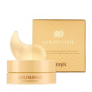 Гидрогелевые патчи для глаз с золотом и улиткой Petitfee Gold & Snail Hydrogel Eye Patch 60шт