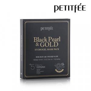 Гидрогелевая маска с золотом и  черным жемчугом PETITFEE Black Pearl & Gold Hydrogel Mask Pack - 5шт