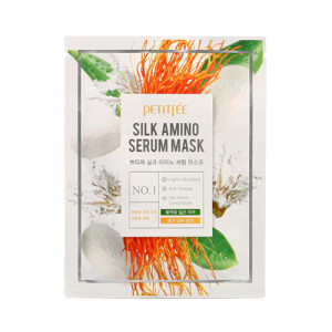 Маска для лица с протеинами шелка PETITFEE Silk Amino Serum Mask 25g - 1шт