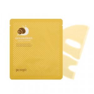 Гидрогелевая маска для лица с золотом и улиткой PETITFEE Gold & Snail Hydrogel Mask 30g - 1шт