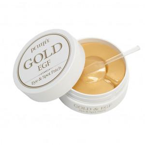 УЦЕНКА! (Помятая упаковка) Гидрогелевые патчи для глаз с золотом и EGF - PETITFEE Gold & EGF Eye & Spot Patch 60шт + 30 точечных патчей