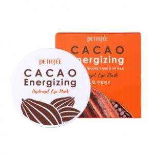 Гидрогелевые тонизирующие патчи для глаз с экстрактом какао PETITFEE Cacao Energizing Hydrogel Eye Patch 60шт