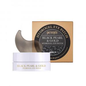 Гідрогелеві патчі для очей з золотом та чорними перлами PETITFEE Black Pearl & Gold Hydrogel Eye Patch 60шт