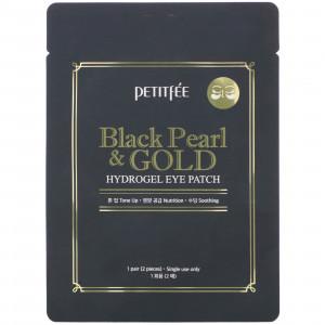 Гідрогелеві патчі для очей із золотом та чорними перлами PETITFEE Black Pearl & Gold Hydrogel Eye Patch (1 пара)