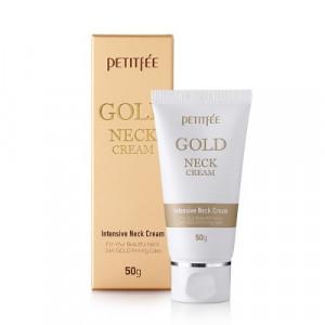 Крем для шиї і декольте з золотом Petitfee Gold Neck Cream 50g