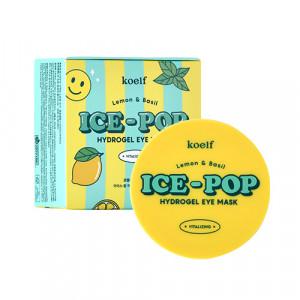 Гідрогелеві патчі для очей з лимоном та базиліком KOELF Lemon & Basil Ice-Pop Hydrogel Eye Mask 60шт