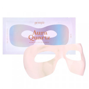 Гідрогелева маска для області навколо очей з екстрактом перлів та лавандою PETITFEE Aura Quartz Hydrogel Eye Zone Mask Iridescent Lavender 9g - 1шт.