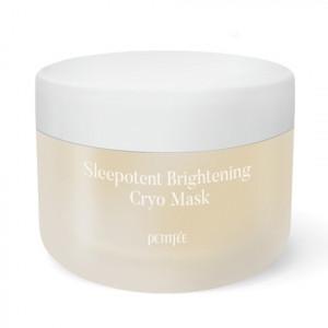 Вирівнююча тон нічна кріо-маска з вітаміном С і ніацинамідом PETITFEE Sleepotent Brightening Cryo Mask 55ml